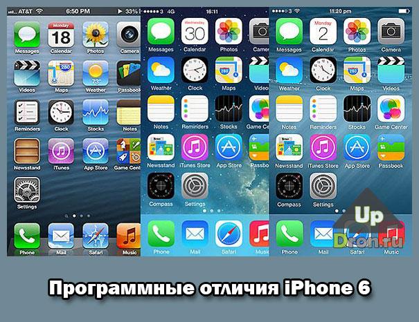 Программные отличия iPhone 6