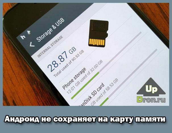 Андроид не сохраняет на карту памяти